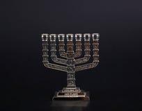 Zilveren menorah Royalty-vrije Stock Foto
