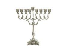 Zilveren Menorah Royalty-vrije Stock Afbeelding