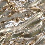 Zilveren metaaloppervlakte Royalty-vrije Stock Foto's