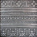Zilveren metaalplaat Stock Foto