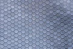 Zilveren metaaltextuur van een meerderheid van zeshoeken een mooie achtergrond grijze kleur royalty-vrije stock foto's