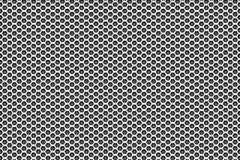 Zilveren metaalwit aan zwarte patroonachtergrond met pentagonen Royalty-vrije Stock Fotografie