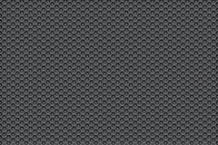 Zilveren metaalwit aan zwarte patroonachtergrond met pentagonen Royalty-vrije Stock Foto's
