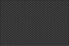Zilveren metaalwit aan zwarte patroonachtergrond met pentagonen Stock Fotografie