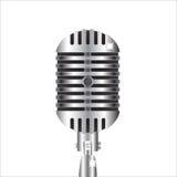 Zilveren microfoon royalty-vrije illustratie