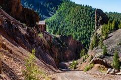Zilveren Mijn Creede Colorado Bachelor Loop stock foto