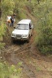 Zilveren Mitsubishi Pajero GLS V6 stock foto's