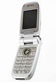 Zilveren mobiele telefoon Royalty-vrije Stock Afbeelding