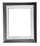 Zilveren modern frame stock foto's
