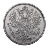 Zilveren muntstuk, 1914 Royalty-vrije Stock Foto