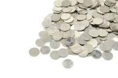Zilveren muntstuk Royalty-vrije Stock Fotografie
