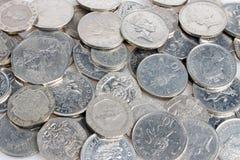Zilveren muntstukken Royalty-vrije Stock Afbeelding