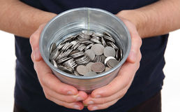 Zilveren muntstukken Royalty-vrije Stock Foto's