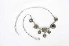 Zilveren neckless Stock Afbeelding