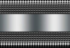 Zilveren Netwerk met Zilveren Tussenvoegsel royalty-vrije stock foto's