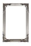 Zilveren omlijsting op wit Royalty-vrije Stock Foto