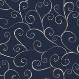 Zilveren oosters naadloos patroon Stock Afbeeldingen