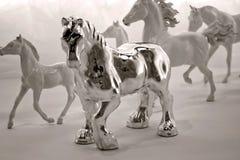 Zilveren paard Royalty-vrije Stock Fotografie