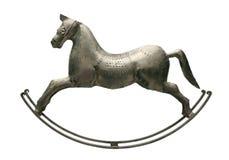 Zilveren paard Stock Foto