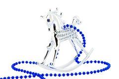 Zilveren paard op wit royalty-vrije stock foto
