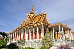 Zilveren pagode bij het koninklijke paleis Stock Afbeeldingen