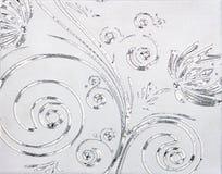 Zilveren patroon stock afbeelding