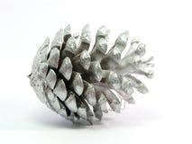 Zilveren pinecone Stock Afbeelding