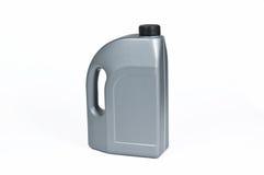 Zilveren plastic jerrycan Stock Afbeeldingen
