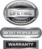 Zilveren retro zegel, sticker, markering, etiket, kenteken Royalty-vrije Stock Foto