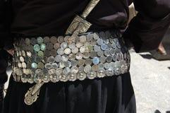 Zilveren Riem & Mes Royalty-vrije Stock Afbeelding