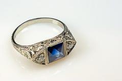 Zilveren ring stock fotografie