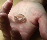 Zilveren ring Royalty-vrije Stock Foto's