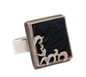 Zilveren Ring - Poney Royalty-vrije Stock Foto