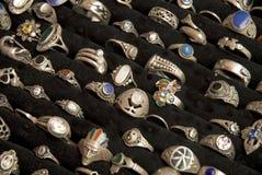 Zilveren ringen Stock Afbeelding