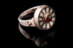 Zilveren robijnrode ogen Royalty-vrije Stock Foto's
