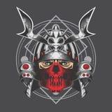 Zilveren samoeraien royalty-vrije illustratie