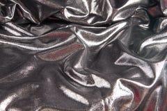 Zilveren satijnachtergrond Stock Fotografie