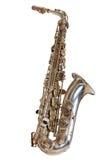 Zilveren saxofoon Royalty-vrije Stock Foto