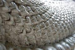 Zilveren schaal Stock Foto's