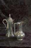 Zilveren Schepen stock afbeeldingen