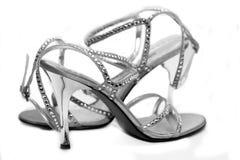 Zilveren Schoenen Royalty-vrije Stock Foto