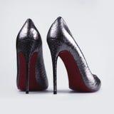 Zilveren schoenen Stock Foto