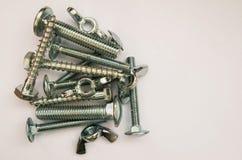 Zilveren schroeven Royalty-vrije Stock Afbeeldingen