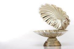 Zilveren shell royalty-vrije stock afbeeldingen