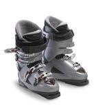 Zilveren Ski Boots Stock Afbeelding