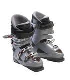 Zilveren Ski Boots Royalty-vrije Stock Afbeeldingen