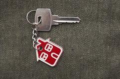 Zilveren sleutel Stock Afbeelding