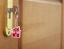 Zilveren sleutel Stock Foto's