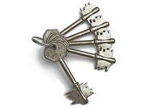 Zilveren sleutels Royalty-vrije Stock Afbeeldingen
