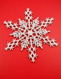 Zilveren sneeuwvlok Royalty-vrije Stock Foto's